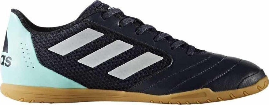 Кроссовки для футзала муж Adidas ACE 17.4 Sala, цвет: черный, голубой, белый. BY1958. Размер 10,5 (44)BY1958Футбольные бутсы (для зала) муж.• Верхняя часть: Мягкий, легкий верхпринимает форму вашей ноги• Подошва: Подошва обеспечивает отличноесцепление даже на высоких скоростях нагладких полированными покрытиях