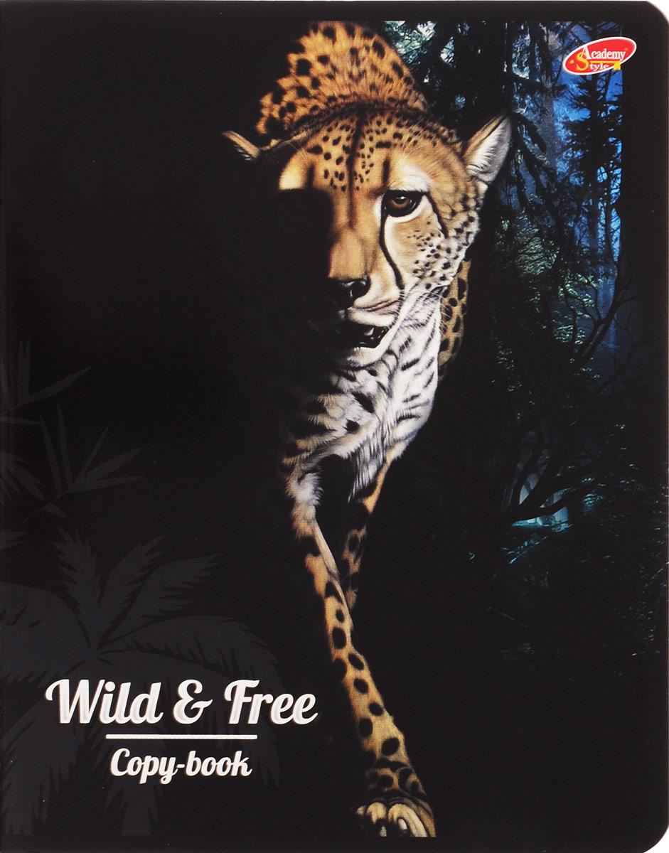 Academy Style Тетрадь Животные Wild & Free Леопард 80 листов в клетку2228658_ЛеопардТетрадь Academy Style Животные Wild & Free. Леопард отлично подойдет для занятий школьнику, студенту или для различных записей. Обложка, выполненная из плотного картона, позволит сохранить тетрадь в аккуратном состоянии на протяжении всего времени использования. Внутренний блок тетради, соединенный двумя металлическими скрепками, состоит из 80 листов белой бумаги. Стандартная линовка в клетку голубого цвета дополнена полями, совпадающими с лицевой и оборотной стороны листа.