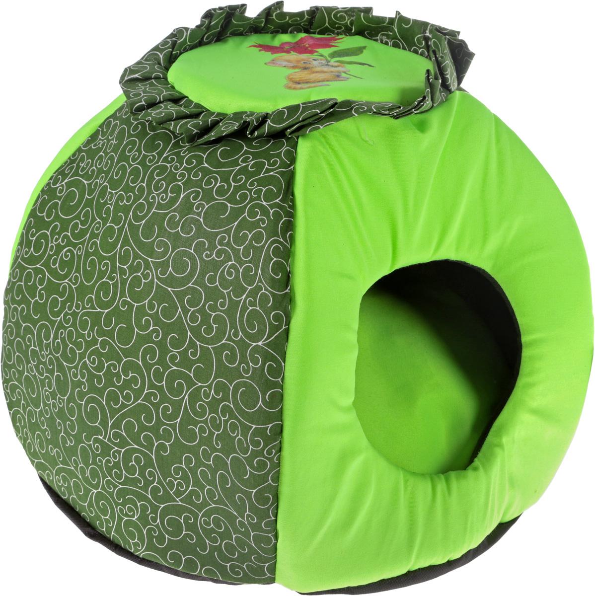 Домик-трансформер для животных GLG  Гнездышко , цвет: салатовый, зеленый 46 х 36 см - Лежаки, домики, спальные места