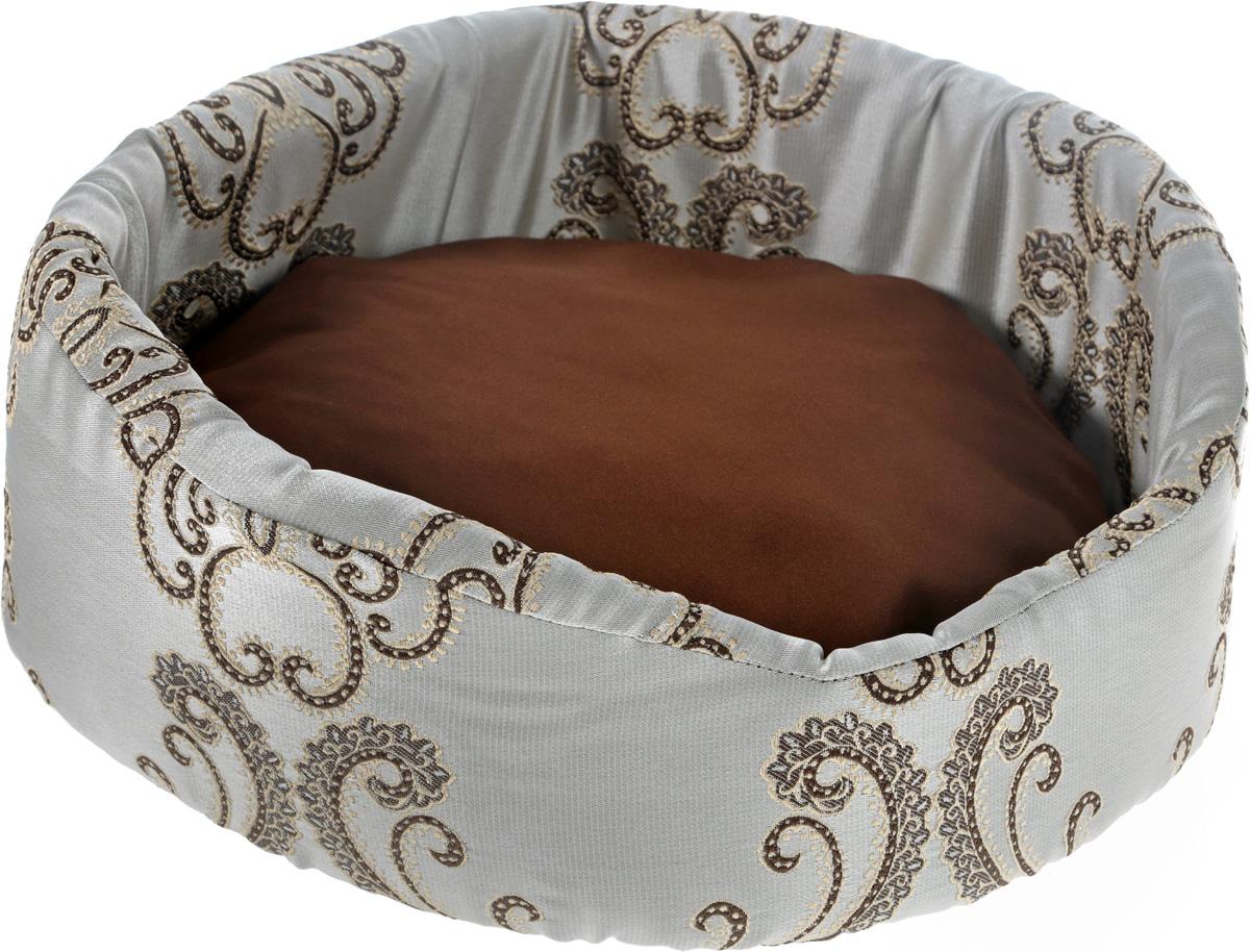 Лежак для животных GLG Фигурный, цвет: бежевый, коричневый, 48 х 39 х 21 смL010_вензеля_бежевый, коричневыйМягкий лежак GLG Фигурный обязательно понравится вашему питомцу. Он выполнен из высококачественных материалов. Такие материалы не теряют своей формы долгое время.Лежак оснащен мягкой съемной подстилкой. Высокие бортики обеспечат вашему любимцу уют. Мягкий лежак станет излюбленным местом вашего питомца, подарит ему спокойный и комфортный сон, а также убережет вашу мебель от шерсти.