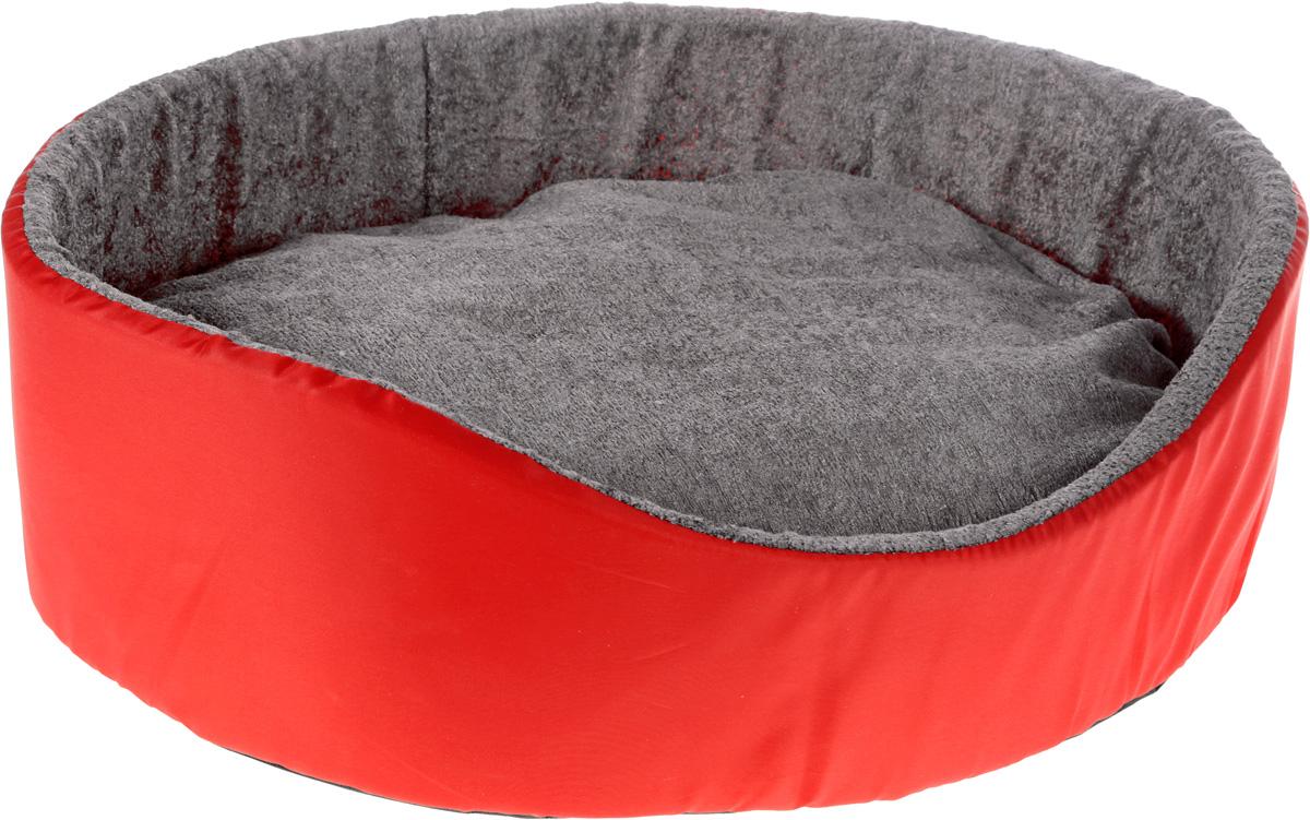 Лежак для животных GLG Нежность, цвет: красный, 54 х 46 х 17 смL002/C_красный