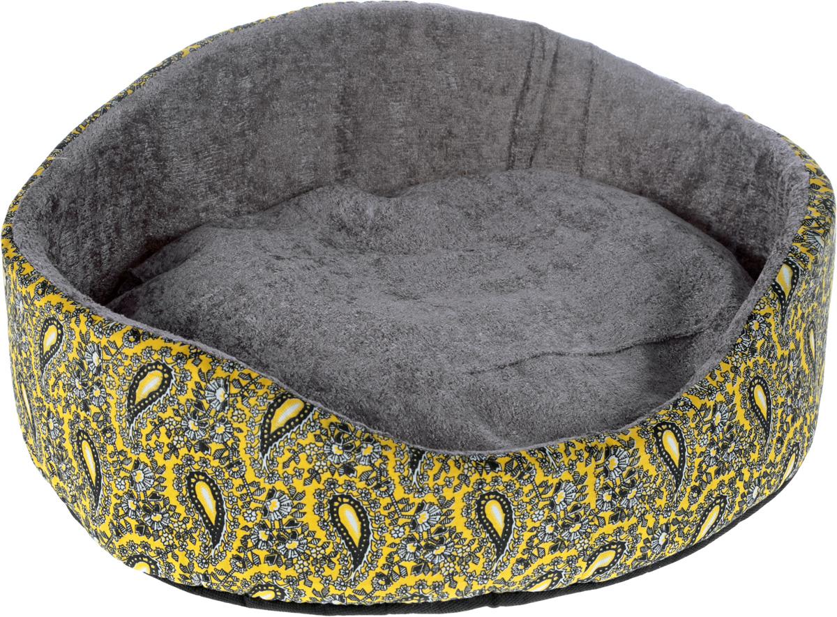 Лежак для животных GLG Фигурный, цвет: желтый, черный, 48 х 39 х 21 смL010_желтый, черныйМягкий лежак GLG Фигурный обязательно понравится вашему питомцу. Он выполнен из высококачественных материалов. Такие материалы не теряют своей формы долгое время.Лежак оснащен мягкой съемной подстилкой. Высокие бортики обеспечат вашему любимцу уют. Мягкий лежак станет излюбленным местом вашего питомца, подарит ему спокойный и комфортный сон, а также убережет вашу мебель от шерсти.