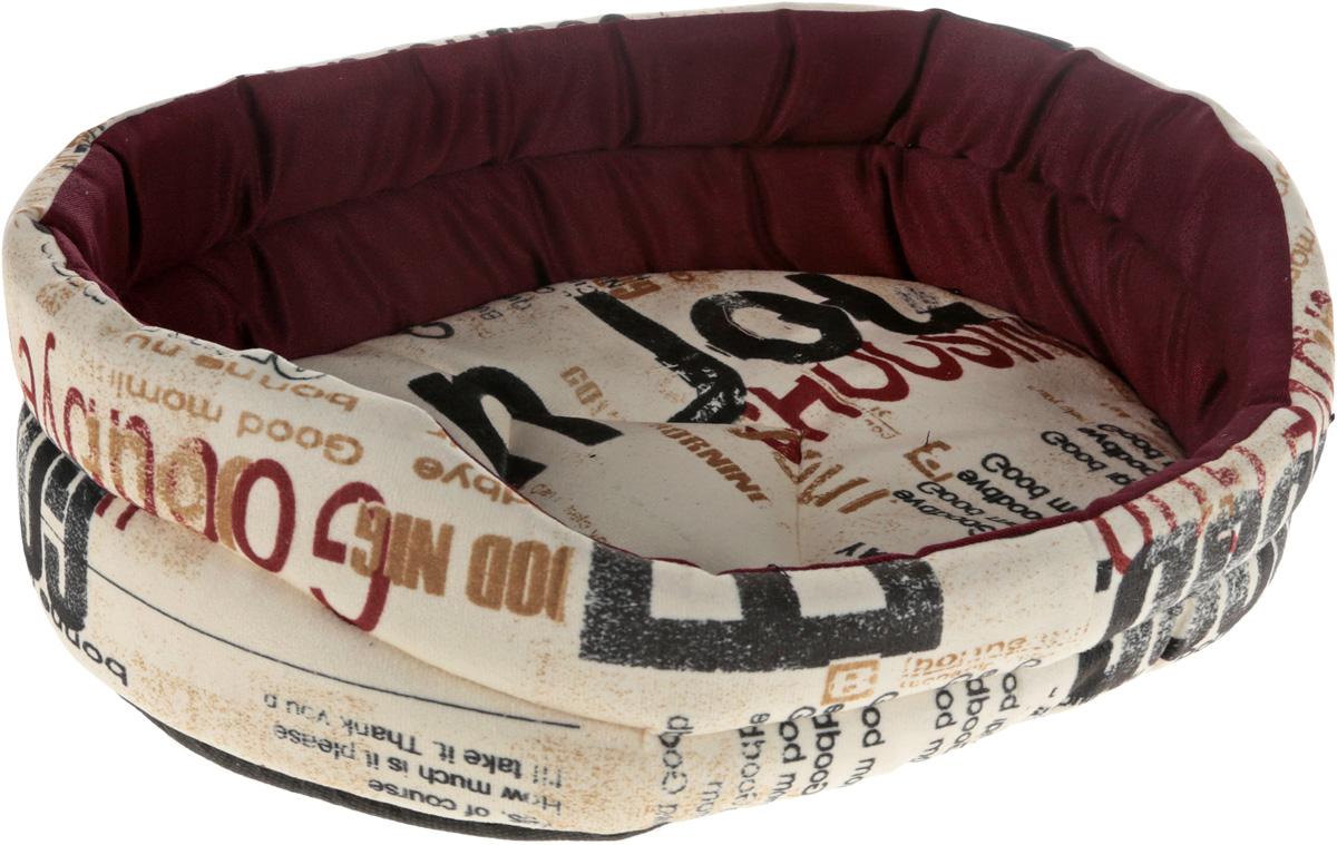 Лежак для животных GLG Малютка, цвет: молочный, бордовый, 37 х 30 х 11 смL005/A_молочный, бордовыйМягкий лежак GLG Малютка обязательно понравится вашему питомцу. Он выполнен из высококачественных материалов. Такие материалы не теряют своей формы долгое время.Лежак оснащен мягкой подстилкой, которую можно снять и постирать. Высокие бортики обеспечат вашему любимцу уют. Мягкий лежак станет излюбленным местом вашего питомца, подарит ему спокойный и комфортный сон, а также убережет вашу мебель от шерсти.