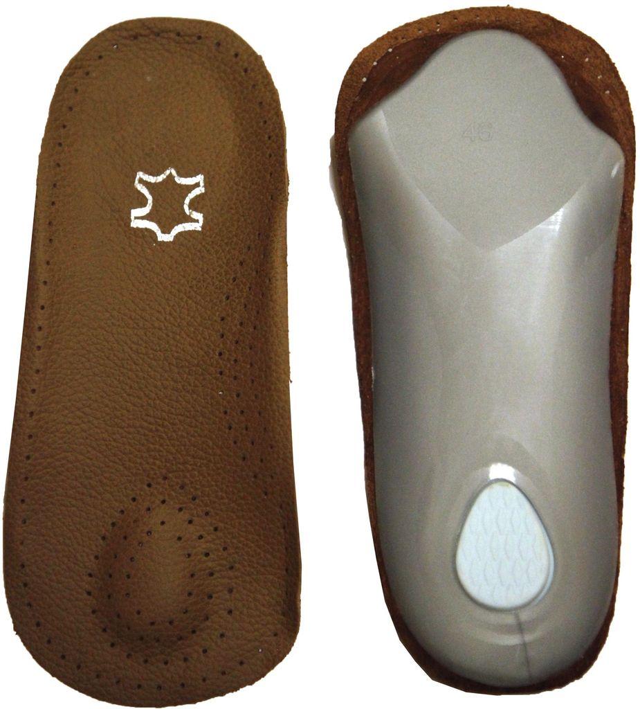 Полустельки для обуви Практика Здоровья, цвет: коричневый. ПСТК1. Размер универсальныйПСТК1Полустелька каркасная кожаная обеспечивает поддержку продольного и поперечного сводов стопы и защищает от развития плоскостопия. Имеет пяточный амортизатор, обеспечивающий снижение ударной нагрузки на пятку.