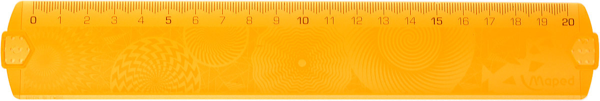Maped Линейка Geocustom цвет оранжевый 20 см254120Линейка Maped Geocustom, выполненная из пластика имеет шкалу на 20 см. Обязательный атрибут любого школьника.Сделайте линейку неповторимой: раскрасьте рисунки на обратной стороне. Высушите. Удалите избыток краски тряпочкой.