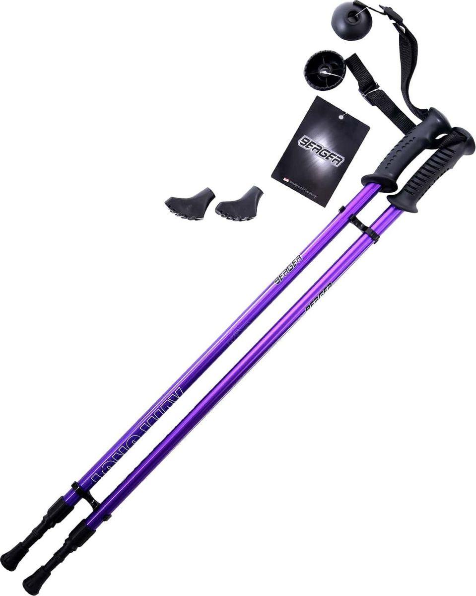 Палки для скандинавской ходьбы Berger  Longway , двухсекционные, цвет: фиолетовый, 77-130 см - Скандинавская ходьба