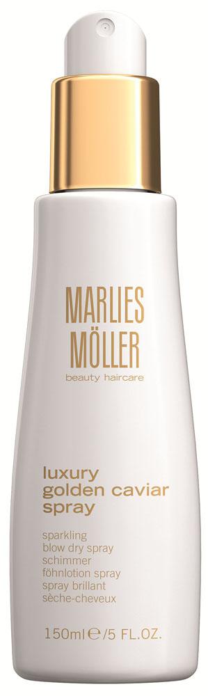 Marlies Moller Luxury Golden Caviar Сухой спрей для придания объема, 150 мл21345MMРоскошный спрей с ценным экстрактом черной икры и частичкам золота окутывает волосы как защитная вуаль, дарит им элегантный объем и блеск. Облегчает укладку, фиксируя результат.