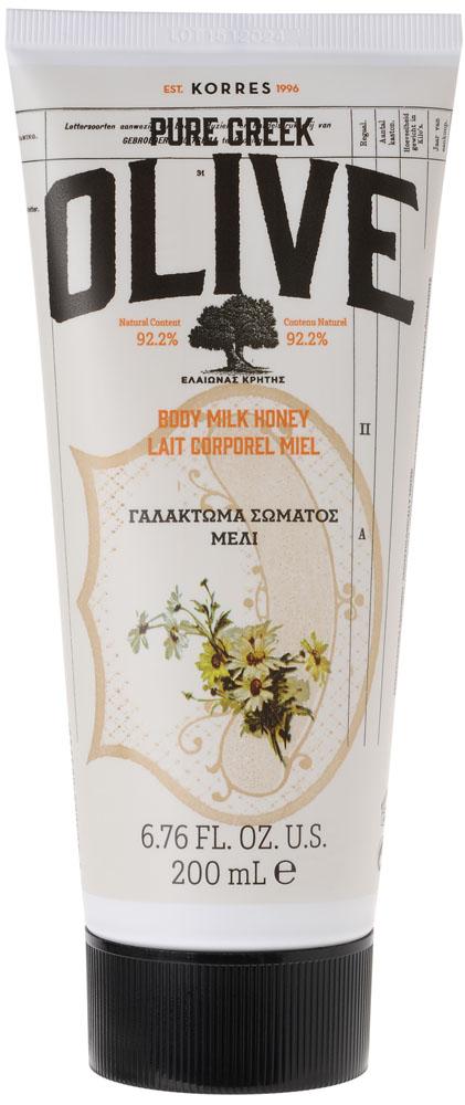 Korres Греческая Олива Молочко для тела Мед, 200 мл5203069063749Увлажняющее молочко для тела обогащено оливковым маслом, природным источником витаминов и антиоксидантов, а также экстрактом листьев оливы, обеспечивающим тонизирующий эффект. Легкая текстура быстро впитывается, оставляя кожу мягкой и нежной. АКТИВНЫЕ ИНГРЕДИЕНТЫ: • Оливковое масло с острова Крит: увлажняет, питает и восстанавливает эластичность кожи; • Экстракт листьев оливы с острова Крит: тонизирует; • Миндальное масло: питает и увлажняет; • Микроэлементы: «пробуждают» эпидермис, заряжают клетки энергией; • Активный Алоэ®: укрепляет иммунную систему кожи, стимулирует синтез коллагена и эластина и помогает уменьшить видимые признаки старения.