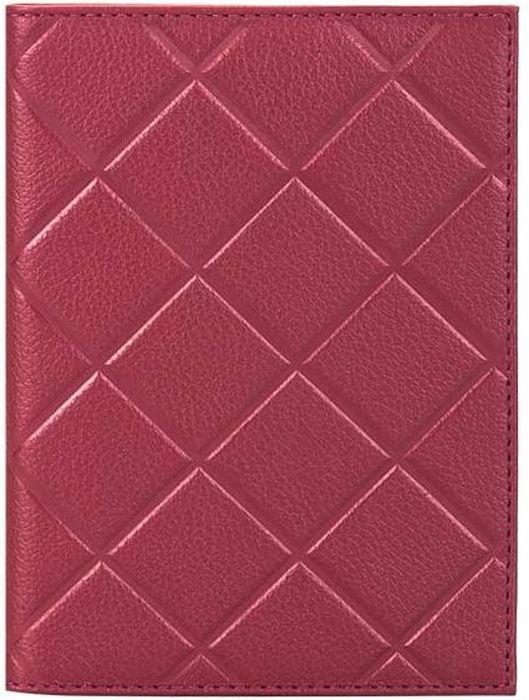 Обложка для паспорта женская Fabula  Soft , цвет: бордовый. O.89.FP - Обложки для паспорта