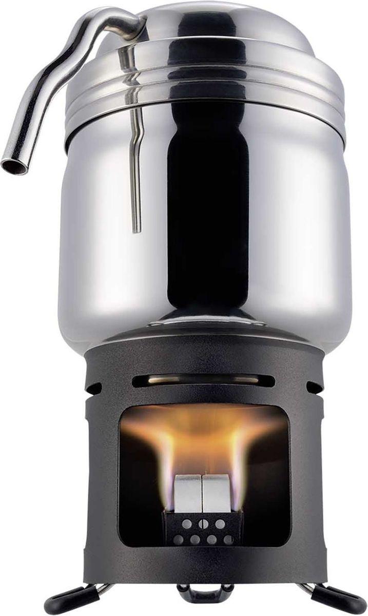 Кофеварка Esbit, 200 мл, 3 предмета20102400Это практический инструмент для настоящих ценителей кофе. Маленькая, легкая и очень практичная кофеварка. Приготовление кофе – это ритуал, который придаст вашим путешествиям особого настроения и ощущений. Кофеварка имеет очень тонкий кофейный фильтр. Один напиток готовится из 2 (по 4 г) таблеток сухого топлива. Дополнительно поставляется с подставкой из черной стали, ее можно транспортировать внутри.Особенности:рассчитана для 200 мл кофе или горячей водыпростая и уникальная конструкциякорпус изготовлен из высококачественной нержавеющей сталитонкий фильтр для кофекомпактная и небольшая (подставка может быть упакована внутрь кофеварки)удобный чехолулучшенная подставкаВнимание!Упаковка сухого топлива не входит в комплектацию товара!