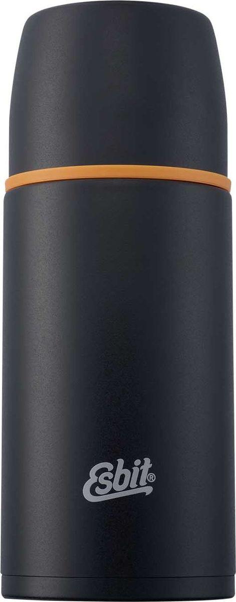 Термос Esbit VF, цвет: черный, оранжевый, 0,75 лVF750MLЛегкий и компактный термос из нержавеющей стали с двумя чашками и дополнительной пробкой. Удобно наливать напитки. Отверстие для наливания открывается / закрывается нажатием кнопки. Высококачественная конструкция термоса сохраняет напитки холодными / горячими длительное время. Планируете однодневное путешествие, утром завариваете чай или кофе, наполняете термос и в путь. А оптимальный объем термоса дает возможность угостить еще и друга.Особенности: высококачественная нержавеющая сталькрышка превращается в 2 чашкисохраняет напитки холодными / горячими длительное времявнутренний пробка с возможностью наливания жидкостиудобно мытьдополнительная пробка с резьбой Характеристики: При температуре воды 98°C и температуре окружающей среды 20°C ± 2°С температура напитка: Через 6 ч: 80°CЧерез 12 ч: 65°CЧерез 24 ч: 50°C Технические характеристики: Материал: нержавеющая стальРазмер: 225 х 90 ммВес: 465 гОбъем: 750 мл