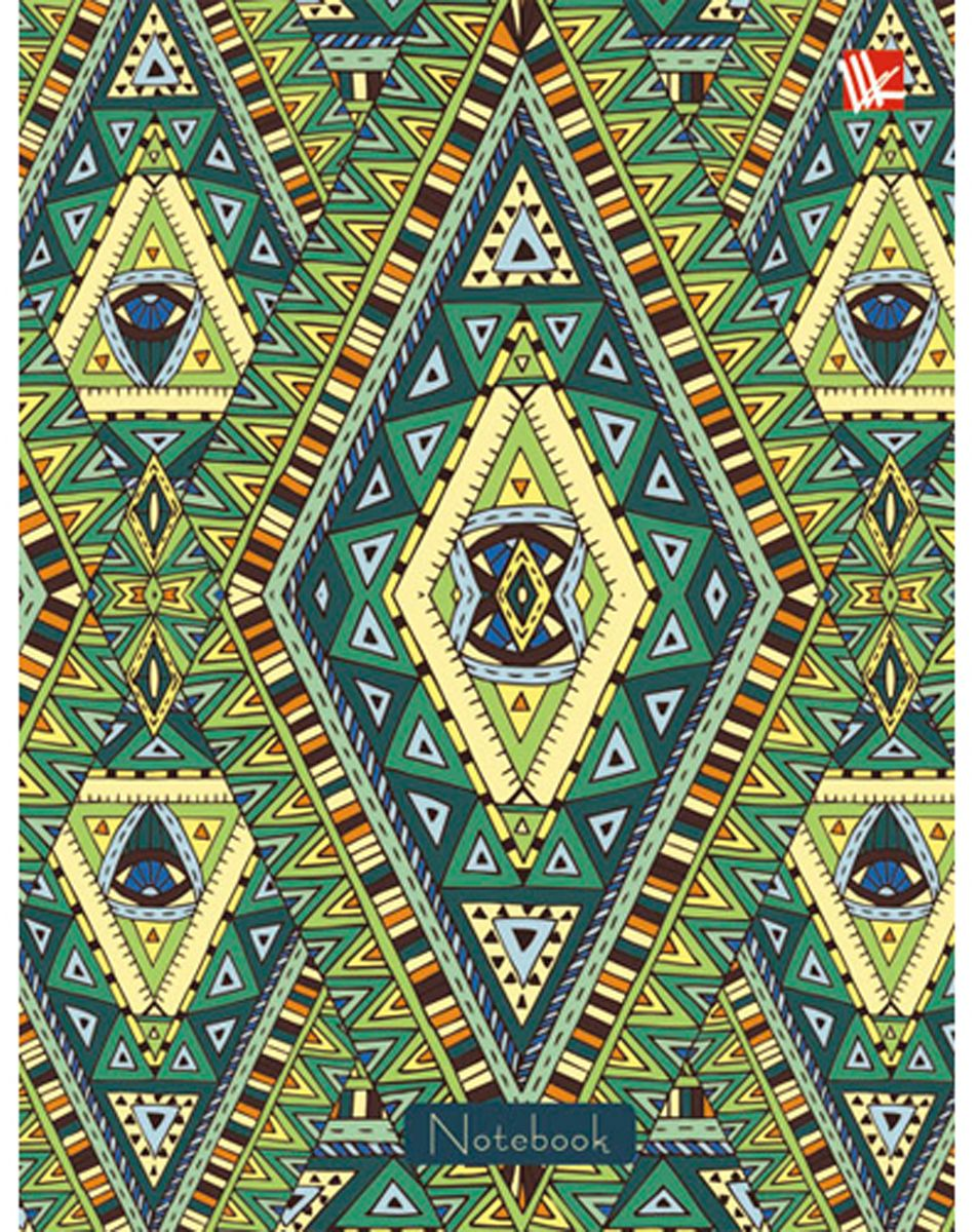 Канц-Эксмо Блокнот Орнамент 96 листов в клетку формат А6 КЗ6962198КЗ6962198Книгa для записей А6 (110х145), 96л. глянцевая ламинация. форзацы - однотонные (белые), бумага - офсетная 60 г/м2, белая, клетка, сшитый блок. Орнамент. Этническая графика 96л.