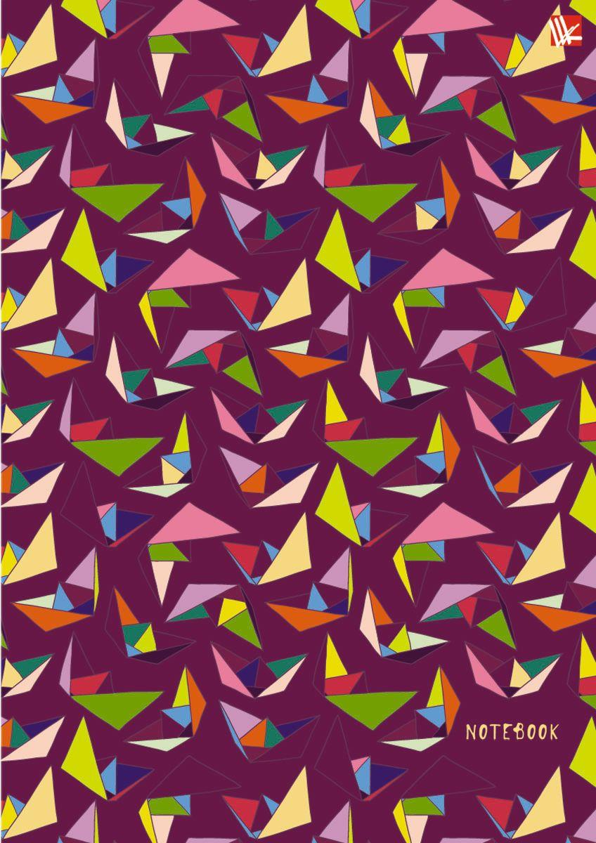 Канц-Эксмо Тетрадь Орнамент 100 листов в клетку формат А6ТСФЛ61004466Тетрадь с твердой обложкой А6, 100л., тиснение фольга Золото, выборочный лак, широкий еврогребень, бумага офсетная 70г/м2, клетка (дизайн. блестки ). Орнамент. Оригами