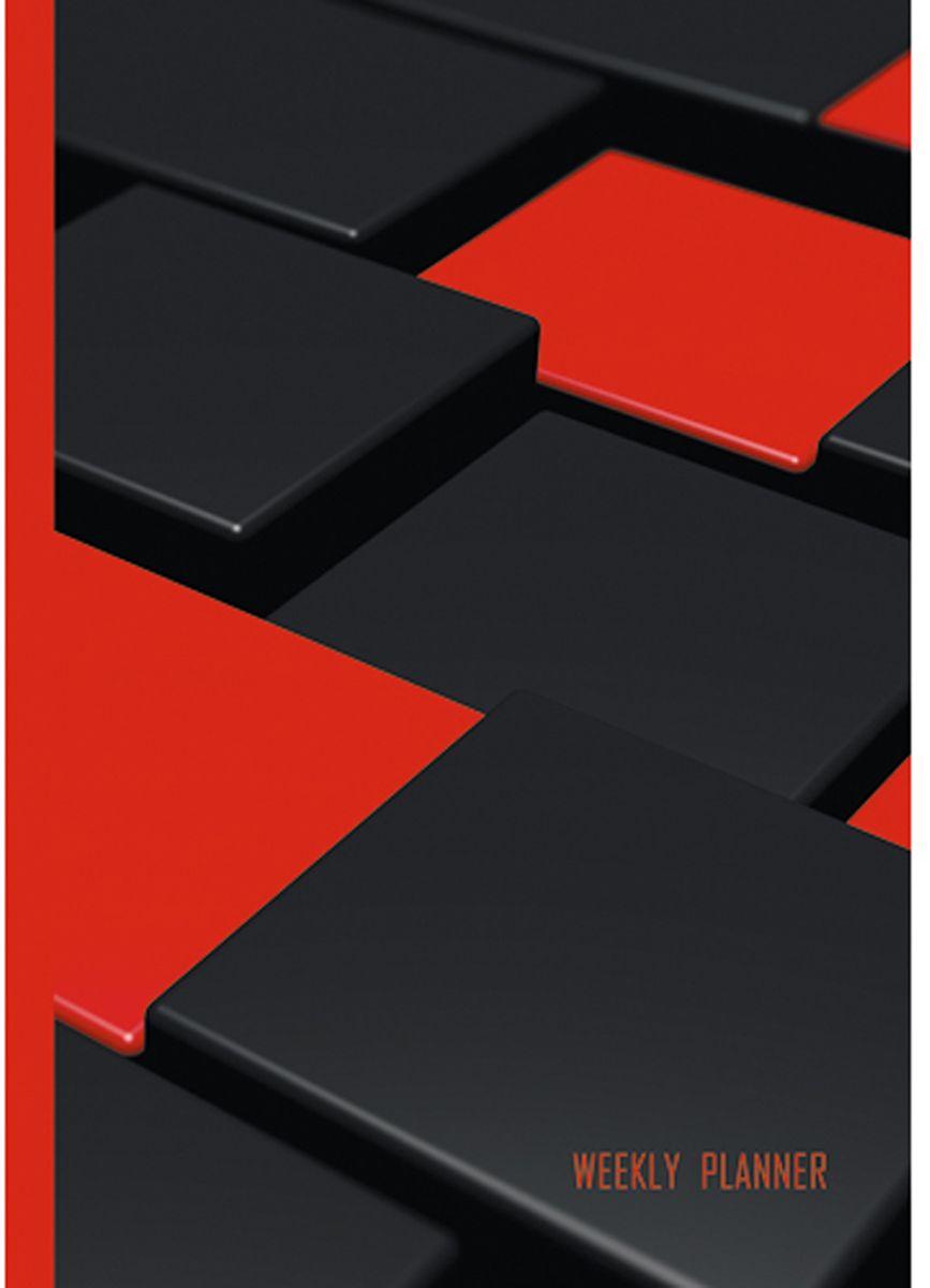 Канц-Эксмо Еженедельник Офисный стиль 72 листов формат А5 ЕНЛ1857206ЕНЛ1857206Еженедельники А5. недатированный, 72 л. Матовая ламинация, выборочный лак. форзацы - тонированные, бумага - офсетная 60г/м2, белая, Офисный стиль. Красно-черный (А5, 72л. )
