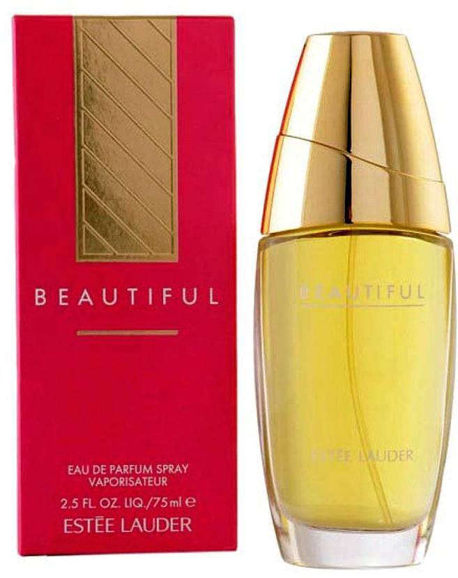Estee Lauder Beautiful парфюмерная вода, 75 мл2491Аромат согрет богатой, древесной основой и украшен букетом нежных цветов. Начало из бергамота, лимона и черной смородины предваряет основные ноты шикарного букета цветов, среди которых жасмин, тубероза, иланг-иланг, цветок апельсина. Древесный шлейф из ветивера, сандала, кедра и ванили нежно оттеняет эту цветочную композицию.