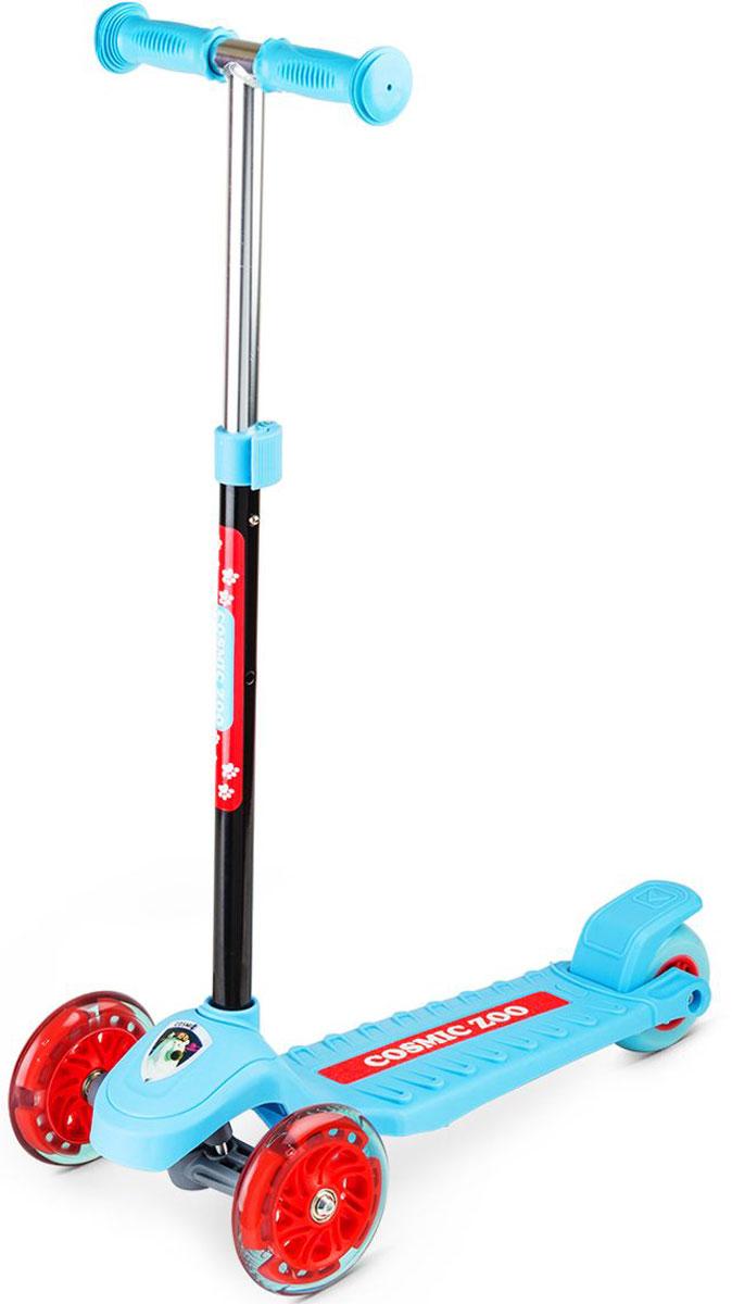 Самокат Small Rider  Zoo Galaxy One , 3-колесный, со светящимися колесами, цвет: голубой - Самокаты