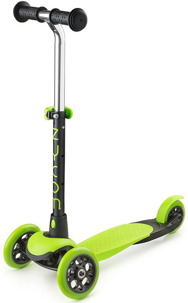 """Самокат Zycom """"Zing Mini"""", 3-колесный, с вынимаемой ручкой, цвет: зеленый"""