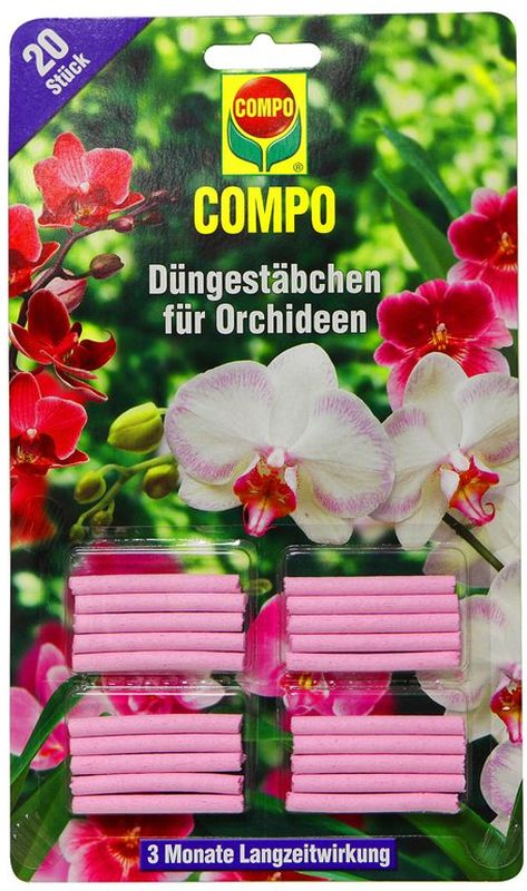 Палочки удобрительные Compo, для орхидей, 20 шт1197802066Удобрительные палочки Compo - это легкий и безопасный способ подкормки для всех видов орхидей. Все необходимые макро- и микроэлементы для красивого и продолжительного цветения. Обеспечивает растения комплексным питанием в течение трех месяцев