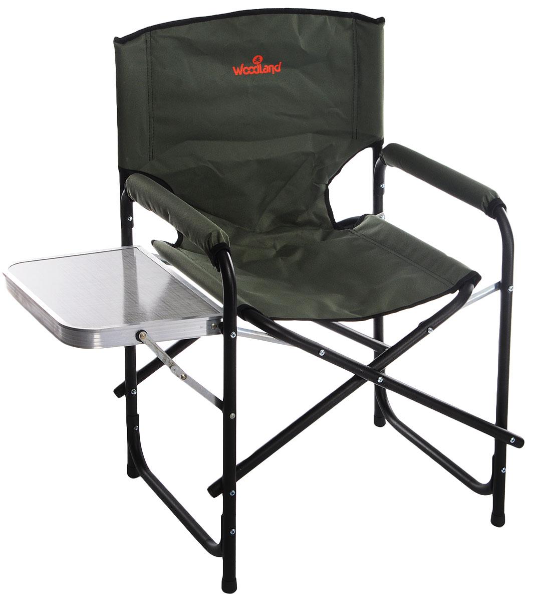 Кресло складное Woodland Fisherman, цвет: зеленый, черный, 55 х 47 х 80 см36500_зеленыйСкладное кресло Woodland Fisherman предназначено для создания комфортных условий в туристических походах, рыбалке и кемпинге.Особенности:Компактная складная конструкция.Прочный стальной каркас с покрытием, диаметр 22 мм.Удобный раскладной столик с подстаканником.Водоотталкивающее ПВХ покрытие ткани Oxford 600D.