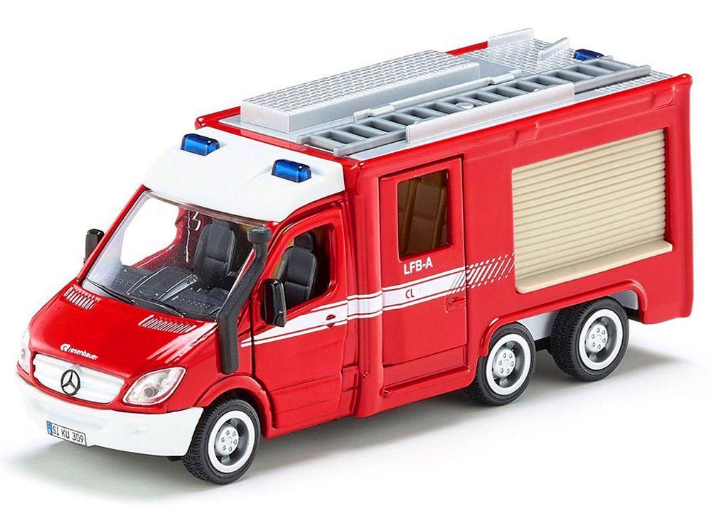 Siku Модель автомобиля Mercedes-Benz Sprinter 6x6 Fire Engine ноутбук dell latitude 3480 core i3 6006u 4gb 500gb 14 0 dos