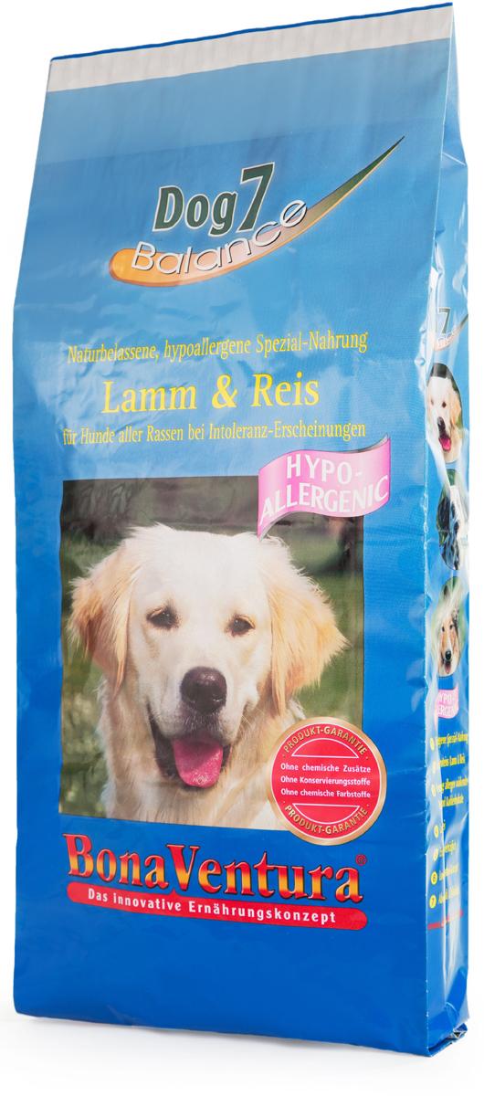 Корм сухой BonaVentura Dog 7 Hipo Allergenic для собак, гипоаллергенный, с бараниной и рисом, 12,5 кг205412Натуральный гиппоалергенный корм для собак BonaVentura Dog 7 Hipo Allergenic произведен из продуктов, пригодных в пищу человека по специальной технологии, схожей с технологией Sous Vide. Благодаря технологии при изготовлении сохраняются все натуральные витамины и минералы. Это достигается благодаря бережной обработке всех ингредиентов при температуре менее 80 градусов. Такая бережная обработка продуктов не стерилизует продуктовые компоненты. Благодаря этому корма не нуждаются ни в каких дополнительных вкусовых добавках и сохраняют все необходимые полезные вещества.При производстве кормов используются исключительно свежие натуральные продукты: мясо, овощи и зерновые; Приготовлено из 100% свежего мяса, пригодного в пищу человеку; Содержит натуральные витамины, аминокислоты, минеральные вещества и микроэлементы; С экстрактом масла зародышей зерна пшеницы холодного отжима (Bio-Dura); Без химических красителей, усилителей вкуса, искусственных консервантов и химических добавок; Без ГМО; Без мясокостной муки; Без сои.Товар сертифицирован.