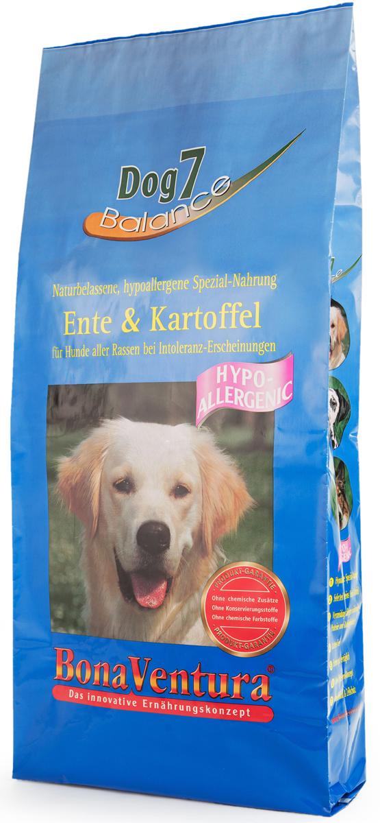 Корм сухой BonaVentura Dog 7 Hipo Allergenic для собак, гипоаллергенный, с уткой и картофелем, 12,5 кг205812Натуральный сухой корм BonaVentura Dog 7 Hipo Allergenic предназначен для собак, склонных к аллергии. Он произведен из продуктов, пригодных в пищу человека по специальной технологии, схожей с технологией Sous Vide. Благодаря технологии при изготовлении сохраняются все натуральные витамины и минералы. Это достигается благодаря бережной обработке всех ингредиентов при температуре менее 80 градусов. Такая бережная обработка продуктов не стерилизует продуктовые компоненты. Благодаря этому корма не нуждаются ни в каких дополнительных вкусовых добавках и сохраняют все необходимые полезные вещества. При производстве кормов используются исключительно свежие натуральные продукты: мясо, овощи и зерновые;Приготовлено из 100% свежего мяса, пригодного в пищу человеку;Содержит натуральные витамины, аминокислоты, минеральные вещества и микроэлементы;С экстрактом масла зародышей зерна пшеницы холодного отжима (Bio-Dura);Без химических красителей, усилителей вкуса, искусственных консервантов и химических добавок;Без ГМО;Без мясокостной муки;Без сои.Товар сертифицирован.