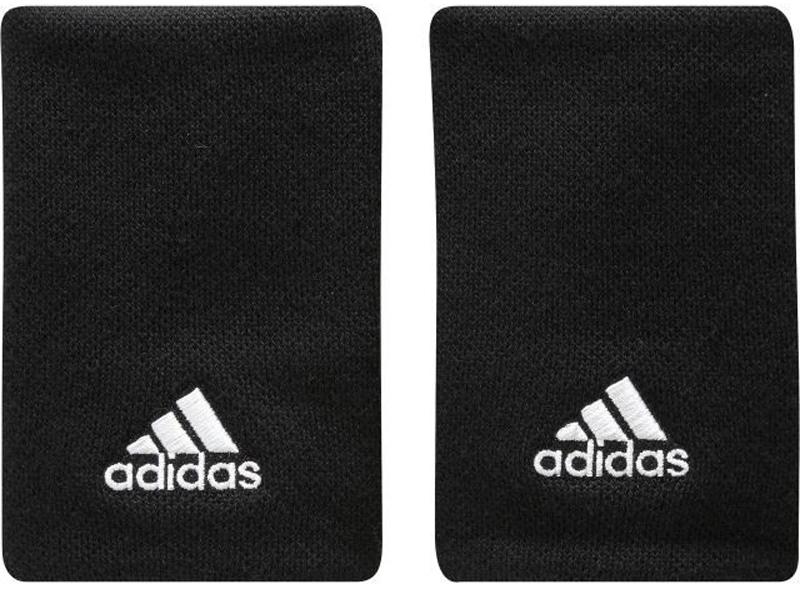 Напульсники Adidas Ten Wb, цвет: черный, 2 шт. S97836-OSFM