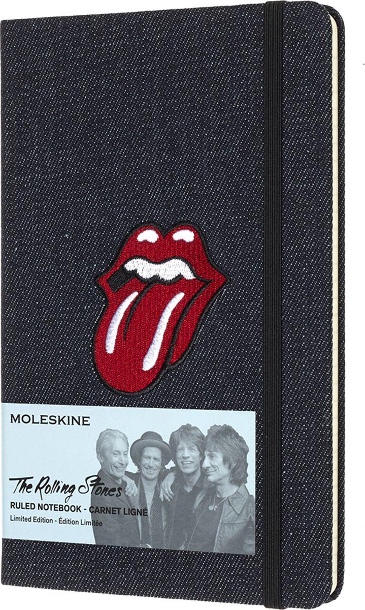 Moleskine Блокнот Limited Edition Rolling Stones цвет черный деним485667Культовая, мятежная группа, которая нашла в себе смелость задать скандально новый тон для целого поколения. Rolling Stones — это живая легенда, ставящая под сомнение любые категории и определения. Блокноты MOLESKINE серии Rolling Stones Limited Edition, представленные в 4-х дизайнах, посвящены знаменитой музыкальной группе, которая стала символом не только нового музыкального жанра, но и сформировала стиль жизни целого поколенияОбложка каждого блокнота серии содержит легендарную эмблему группы со знаменитым языком, а фактура вдохновлена экстравагантным гардеробом Мика Джаггера: джинс, бархат, шелк или классическая черная искусственная кожа.Мгновенно узнаваемый, неподвластный времени, открытый для нестандартных мыслей и идей – Ваш блокнот MOLESKINE серии Rolling Stones.