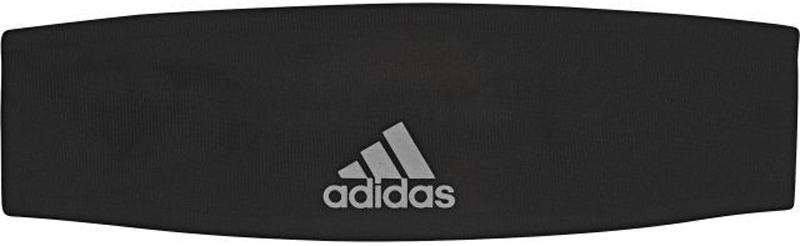 Повязка на голову Adidas Hairband Plain, цвет: черный. BR0804. Размер 56/57BR0804Сосредоточься на своих спортивных целях. Эта повязка не дает волосам падать на лицо и быстро отводит излишки влаги. Эластичные завязки обеспечивают удобную посадку. Светоотражающий логотип adidas дополняет решительный образ.Ткань с технологией climalite быстро и эффективно отводит влагу с поверхности кожи, поддерживая комфортный микроклиматЭластичные завязки сзади для идеальной посадкиСветоотражающий логотип adidas на лицевой сторонеТонкий трикотаж: 82% полиэстер / 18% эластан