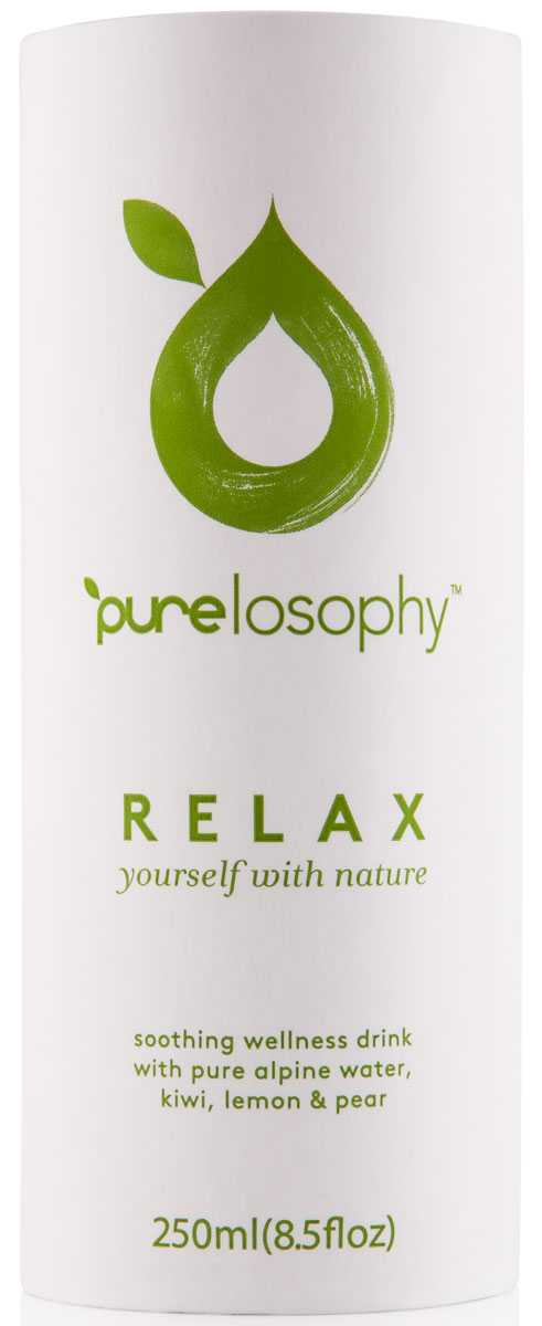 Purelosophy Relax напиток сокосодержащий релакс, 0,25 л7640135020011Purelosophy RELAX представляет собой уникальный напиток, разработанный для снятия напряжения, чрезмерного возбуждения и бессонницы. Основные активные компоненты напитка - мелисса, хмель, ромашка, лаванда и перечная мята. Для того, чтобы вкус не напоминал лекарственное средство, в его состав добавили экстракты сока киви, груши и лимона, которые гармонично оттеняют травяной букет.