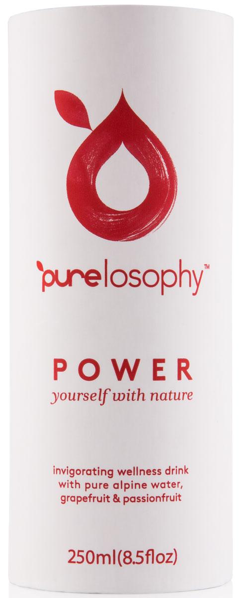 Purelosophy Power напиток сокосодержащий Пауэр, 0,25 л7640135020028Purelosophy POWER представляет собой здоровую альтернативу большинству энергетических напитков. За счет содержащихся экстрактов мате и азиатского женьшеня Purelosophy POWER снимает усталость, а кофеин, содержащийся в экстрактах растений из его состава, обеспечивает длительный заряд энергии без отрицательных последствий.