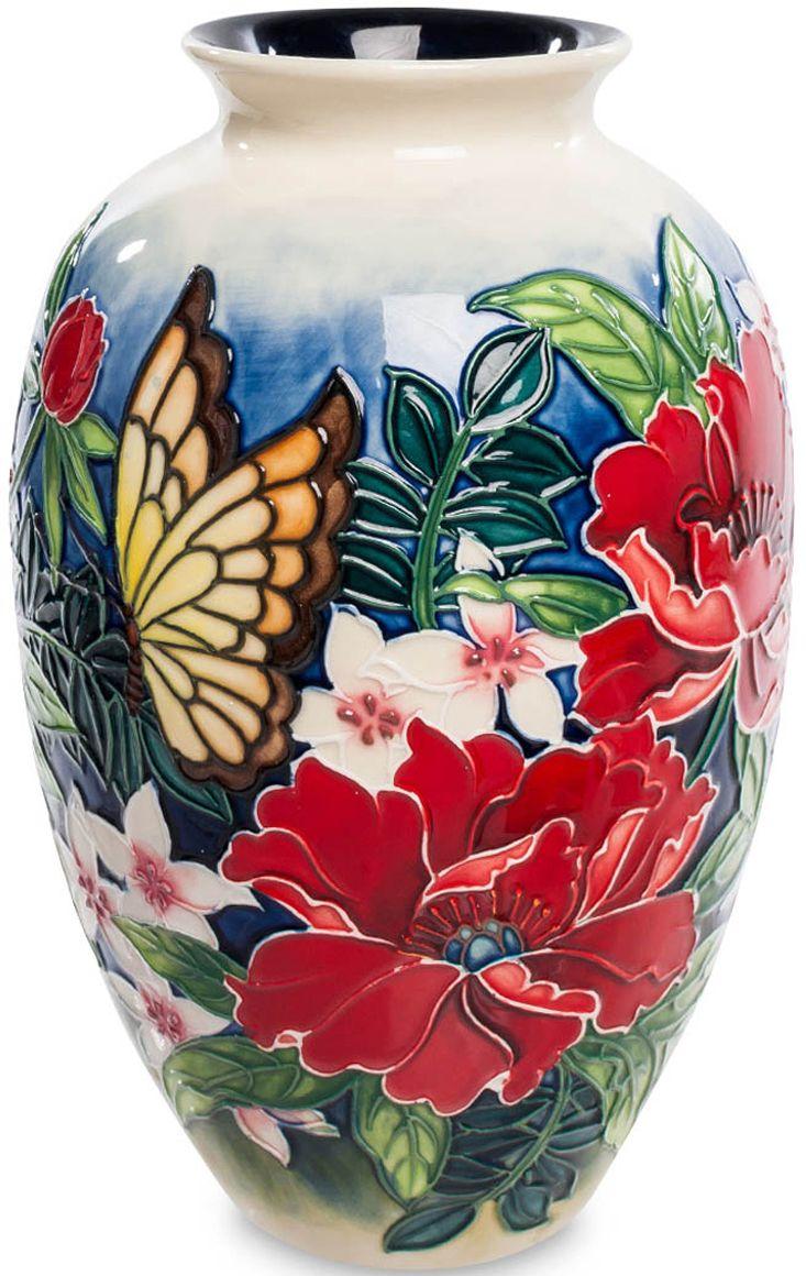 Ваза Pavone, высота 20 см. JP-852/ 2JP-852/ 2Потрясающая красочная ваза Pavone – настоящее произведение искусства! Она мастерски расписана разнообразными яркими цветами и невероятно милой бабочкой. Ваза выполнена из фарфора. Такой шедевр выигрышно смотрится в любом интерьере, наполняет его атмосферой летнего солнечного дня и словно передает ароматы пышно цветущих растений. Флористический дизайн изделия обязательно придется по вкусу представительницам женского пола. Выразительная ваза вызовет восторг и восхищение с первого взгляда.Изделие упаковано в подарочную коробку с атласной подложкой. Высота: 20 см.