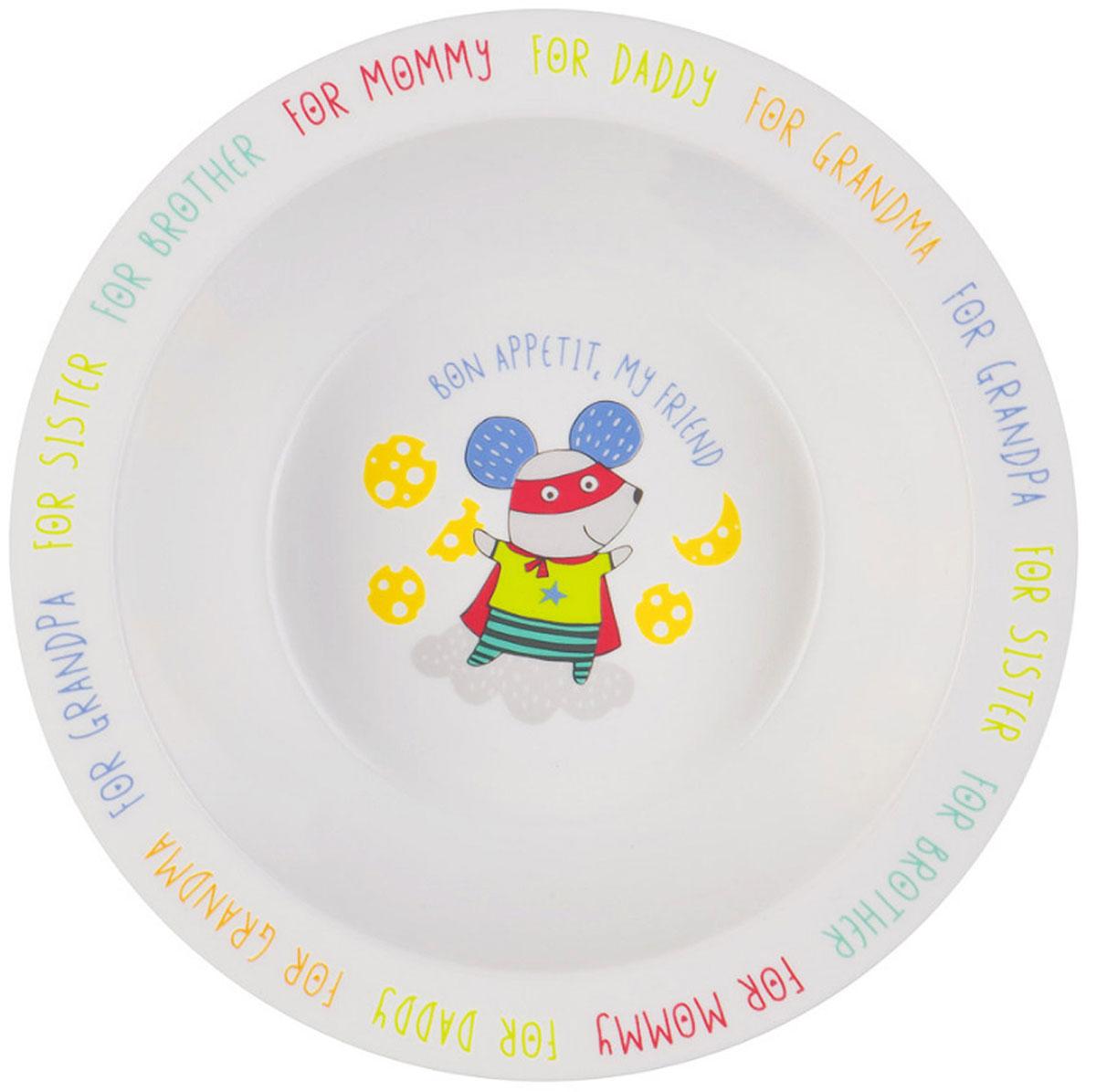 Happy Baby Тарелка глубокая для кормления с присоской Мышь цвет белый мятный15029_белый, мятныйГлубокая тарелка для кормления Happy Baby Мышь изготовлена из безопасного материала.Тарелочка, оформленная веселой картинкой, понравится и малышу, и родителям! Ребенок будет с удовольствием учиться кушать самостоятельно. Тарелочка подходит для горячей и холодной пищи.Яркий дизайн тарелки превращает процесс кормления в увлекательную игру. Широкая присоска на дне прочно фиксирует тарелку на гладкой поверхности и не позволит ее перевернуть.Подходит для детей от 6 месяцев.Можно разогревать в микроволновой печи и мыть в посудомоечной машине без присоски.Не содержит бисфенол А.
