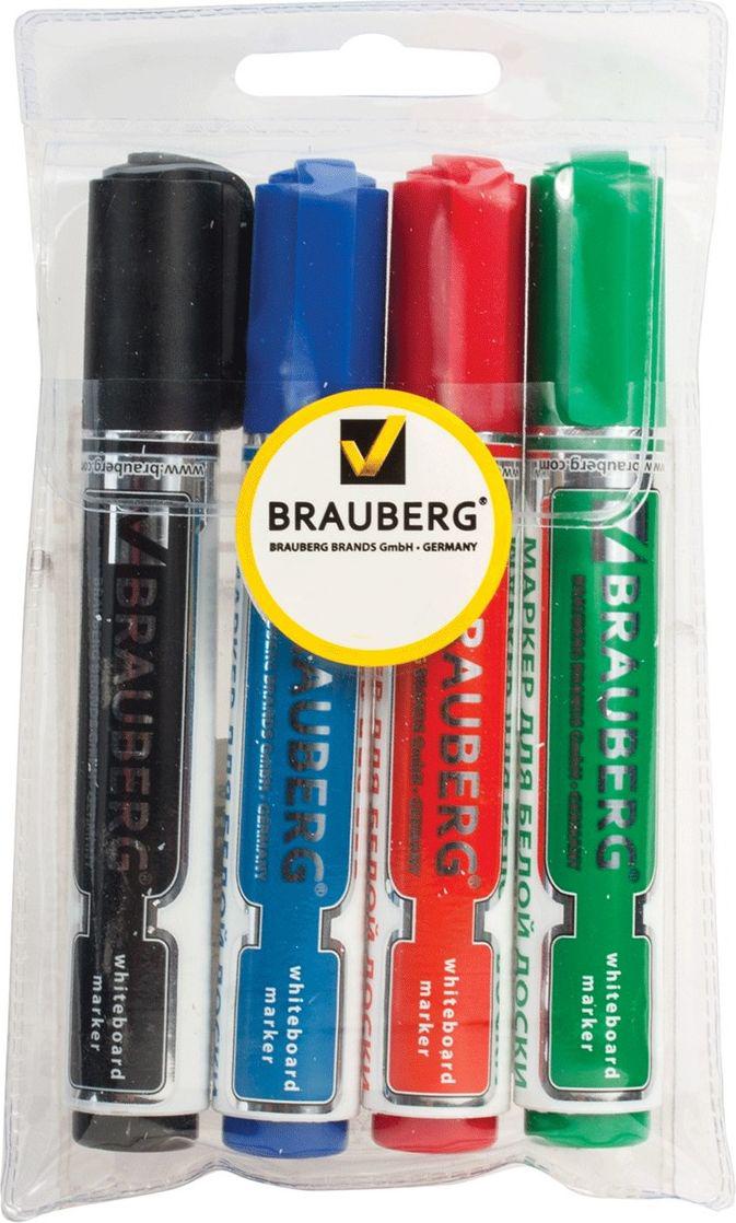 Brauberg Набор маркеров для доски Neo 4 цвета -  Маркеры