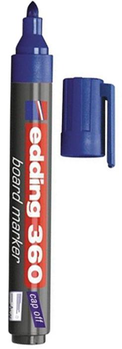 Edding Маркер для доски цвет синий150715Маркер для белых маркерных досок EDDING прекрасно подходит для проведения презентаций, уроков и разнообразных мероприятий. Стирается сухой губкой.