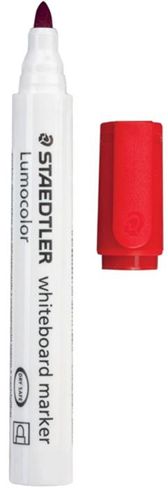 Staedtler Маркер для доски Lumocolor цвет красный 351-2150751Высококачественный маркер для белой магнитно-маркерной доски. Не высыхает с открытым колпачком в течение нескольких дней. Чернила легко стираются с доски стирателем для магнитно-маркерной доски. Даже при сильном нажатии пишущий узел остается на месте.