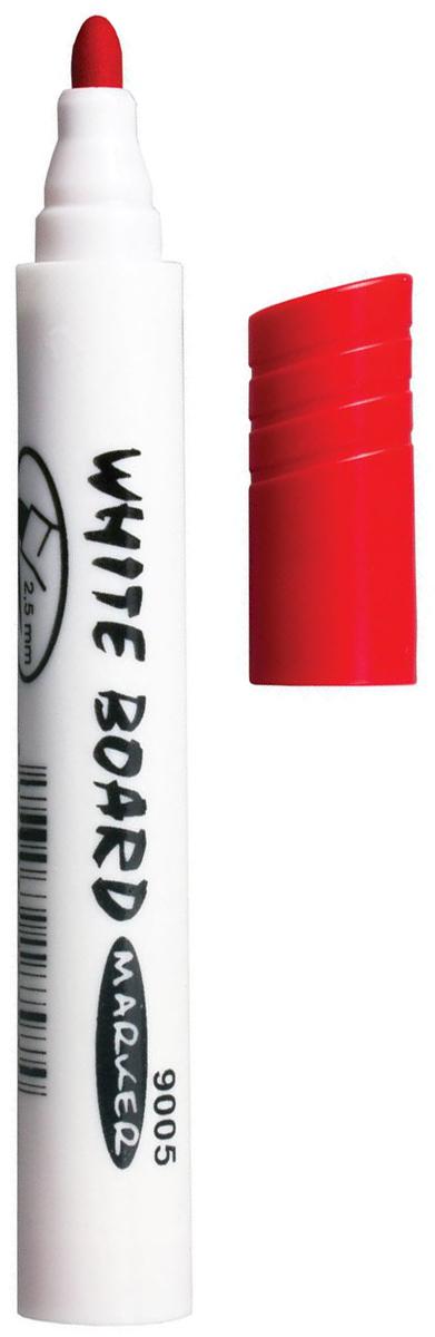 Koh-i-Noor Маркер для доски цвет красный150899Высококачественный маркер на водной основе для белой магнитно-маркерной доски. Не высыхает с открытым колпачком в течение нескольких дней. Чернила стираются сухой губкой.