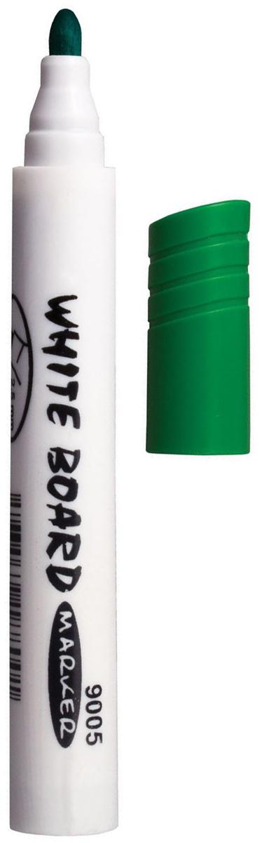 Koh-i-Noor Маркер для доски цвет зеленый150901Высококачественный маркер на водной основе для белой магнитно-маркерной доски. Не высыхает с открытым колпачком в течение нескольких дней. Чернила стираются сухой губкой.