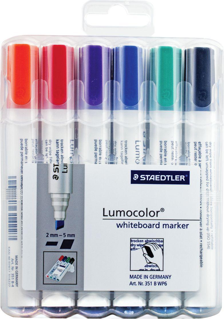 Staedtler Набор маркеров для доски Lumocolor 6 цветов 351 B WP6 -  Маркеры