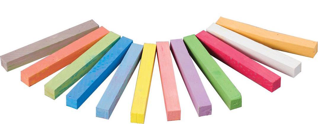 Koh-i-Noor Мелки цветные 12 шт225842Набор цветных мелков, предназначенных для письма на доске.