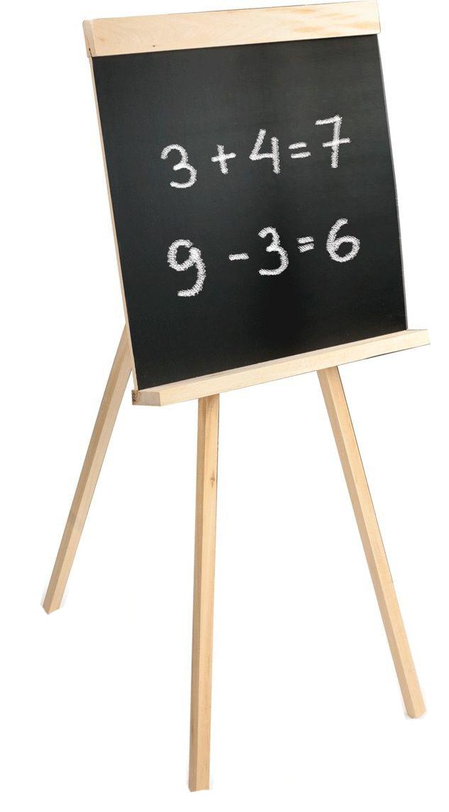 Напольная доска на треноге используется для письма мелом. Предназначена для учебы и развития творческих способностей.