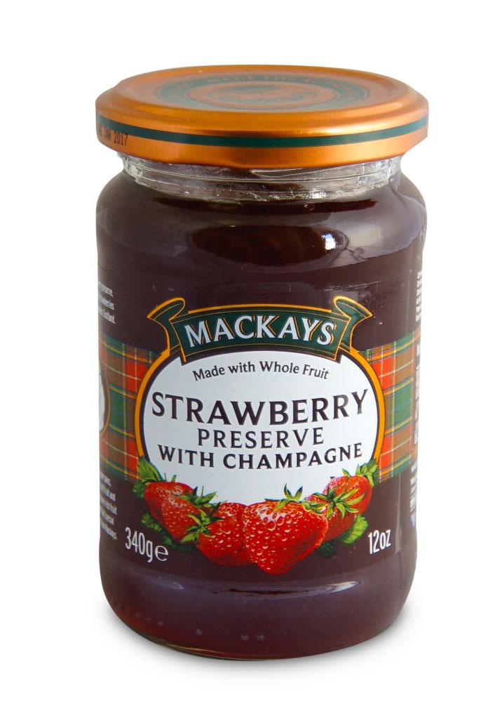 Mackays Десерт ягодный из клубники с шампанским, 340 г211114Для приготовления джемов используют только местные шотландские ягоды наивысшего качества с ягодных полей Пертшира, которые считаются одними из лучших в мире. Сервируйте роскошный завтрак с этим джемом из шотландской клубники с добавлением шампанского.Уважаемые клиенты! Обращаем ваше внимание на то, что упаковка может иметь несколько видов дизайна. Поставка осуществляется в зависимости от наличия на складе.