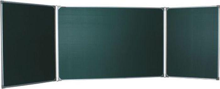Boardsys Доска магнитно-маркерная и меловая 100 х 170-340 см ТЭ-340МТЭ-340МТрехэлементная настенная магнитно-меловая доска с антибликовым покрытием.