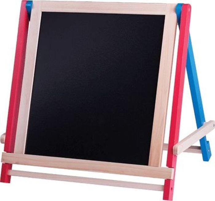 Предназначена для учебы и творчества. Легко перемещается. Белое лаковое покрытие используется для письма специальными маркерами для белой доски, черное - для письма мелом.