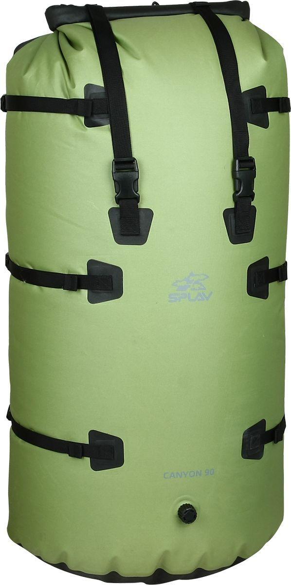 Герморюкзак Сплав Canyon 90, цвет: олива, 90 л5041896Среднеобъемный, полностью герметичный трекинговый рюкзакРюкзак изготовлен по сварной технологии. Все швы герметичныВход в основной объем закрывается скруткой, как на классических гермомешках, что обеспечивает полную герметичность рюкзакаПодвесная система регулируетсяВ подвесной системе не используется поролон, вследствие чего на рюкзаке практически нет впитывающих влагу элементовВсе узлы подвесной системы можно полностью снять, благодаря чему рюкзак превращается в удобный легкий гермомешок с дополнительными элементами для удобной и быстрой фиксации на сплавном суднеВсе силовые места продублированы дополнительным слоем тканиУсиленное дно имеет точки крепления дополнительного грузаРюкзак имеет воздушный клапан для стравливания лишнего воздухаРазмер (Ш х T х B):44 х 27 х 80 смМатериал: Nylon Oxford 420D/600D/1680D TPUФурнитура: Duraflex