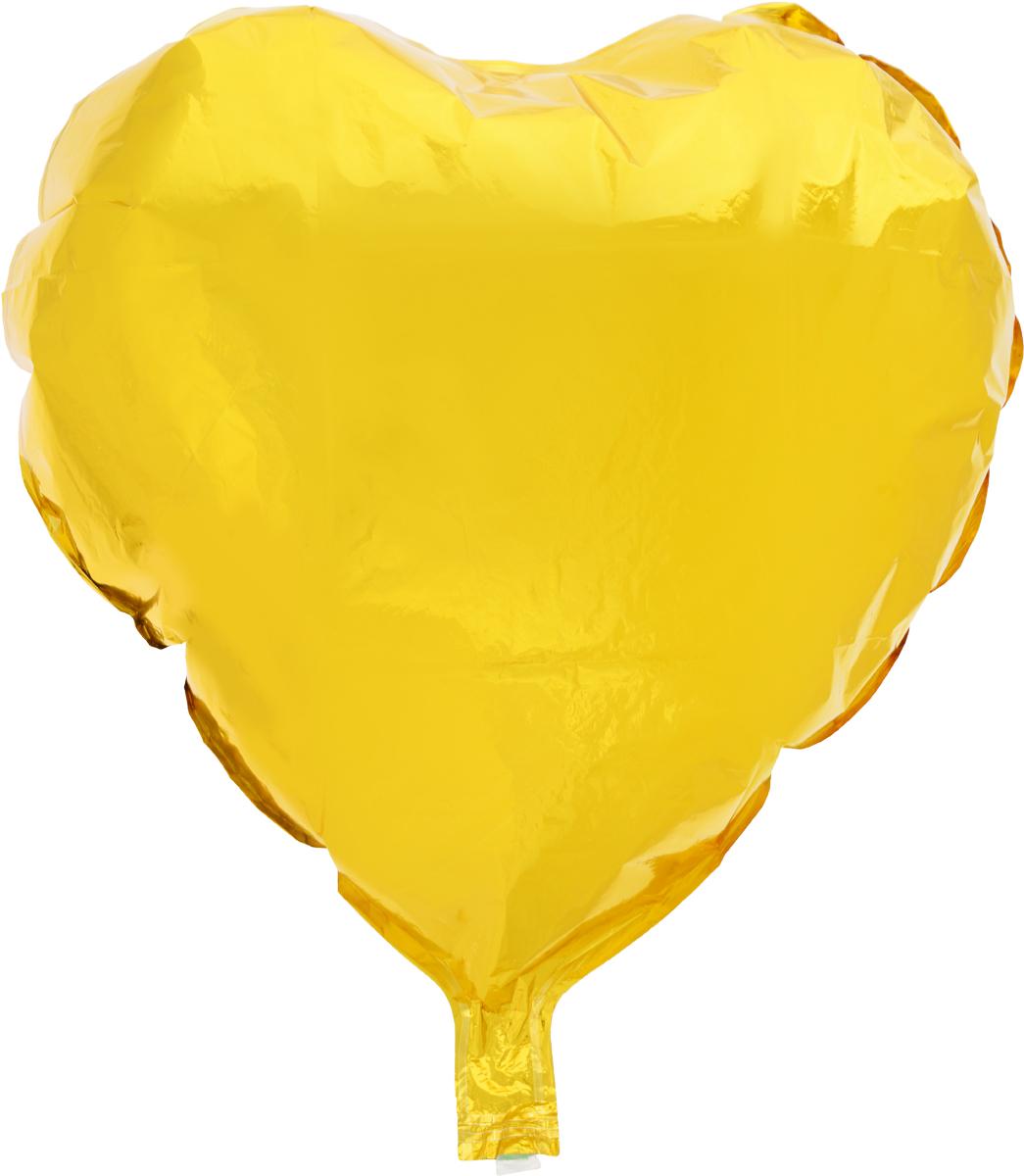 Sima-land Воздушный шарик Сердце 18 цвет желтый -  Воздушные шарики