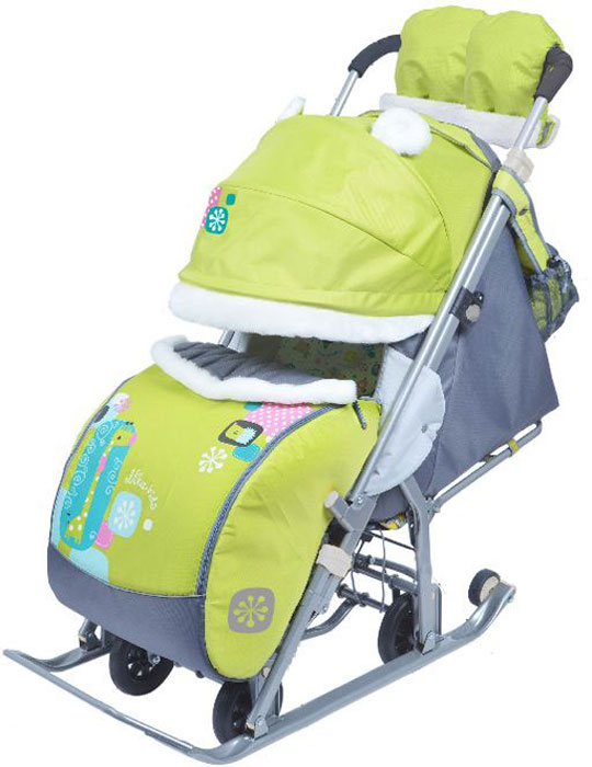 Ника Санки-коляска Детям 7-2 цвет зеленый