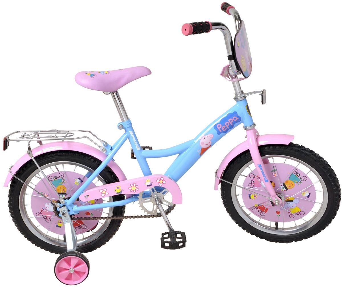 Велосипед детский Navigator Peppa Pig Blue-Pink детский велосипед для девочек navigator basic 12 вмз12063 pink violet