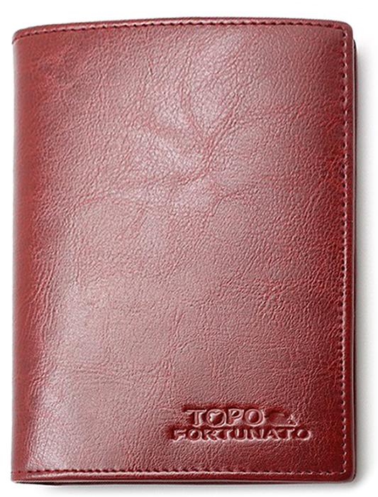 Обложка на паспорт женская Topo Fortunato, цвет: бордовый. TF 223-093TF 223-093Обложка на паспорт натуральная кожа. Бренд Topo Fortunato. Размер 9,5х13,3 см. С левой стороны кожаный захват, два кармашка для пластиковых карт, прозрачное окошко для пропуска, с правой стороны пластиковый захват.