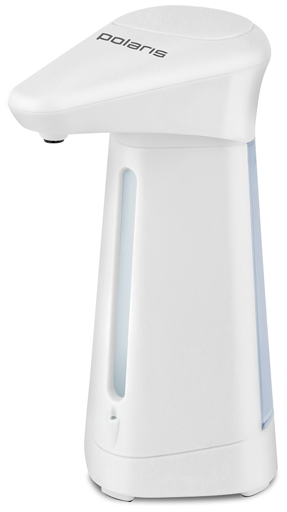 Polaris PSD 3006 сенсорный дозатор для жидкостей4410Диспенсер Polaris PSD 3006 с автоматическим сенсорным дозатором. Для получения порции жидкого мыла, средства для мытья посуды или лосьона достаточно просто поднести к дозатору руки: жидкость будет подана автоматически. Широкое горлышко облегчает процесс наполнения емкости. Дозатор оснащен прозрачным окошком - индикатором уровня жидкости. Работает от 4 стандартных батареек AAA (входят в комплект).